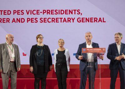 Po opätovnom zvolení za viceprezidentku Strany európskych socialistov (PES)