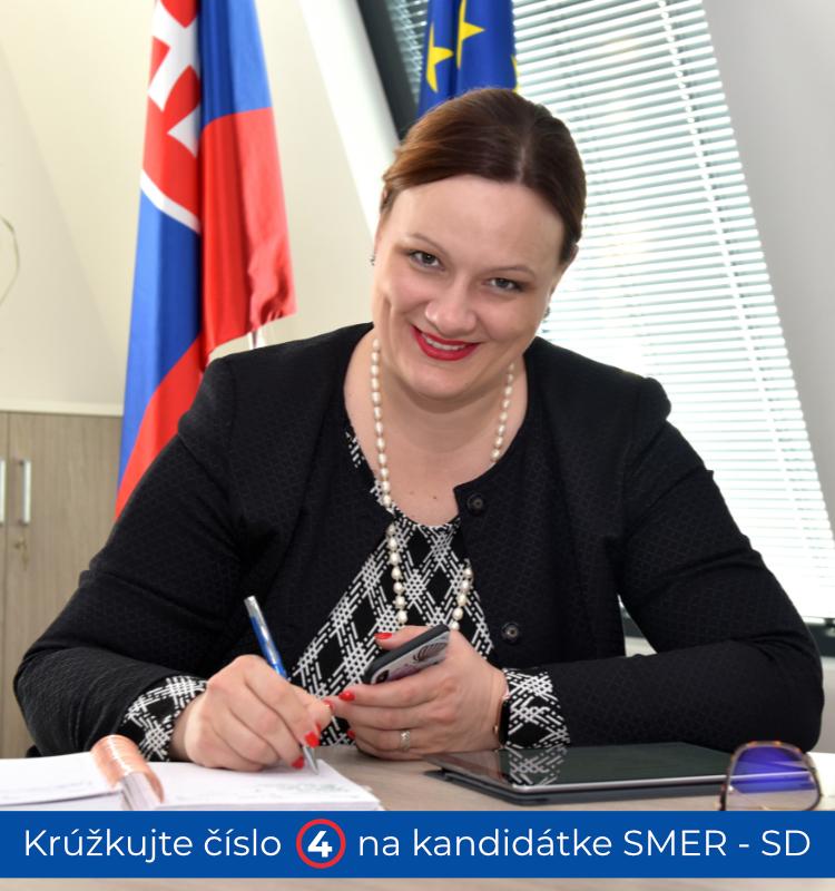 Katarína Roth Neveďalová - kandidátka na europoslankyňu